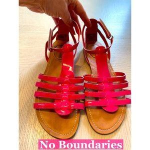 No Boundaries New Pink Summer Sandals Sz 8 NEW